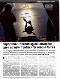 Cejay in Jane's International Defense Review CSAR Technology Article